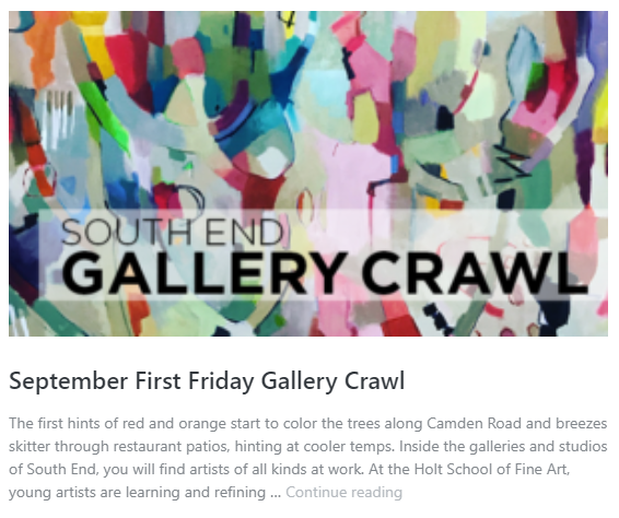 South End Gallery Crawl